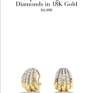 18kt gold and diamond David Yurman earrings
